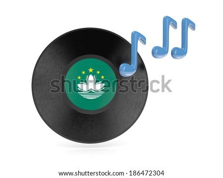 Vinyl disk with flag of macao Stock photo © MikhailMishchenko