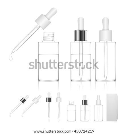 bottle with pipe dropper Stock photo © netkov1
