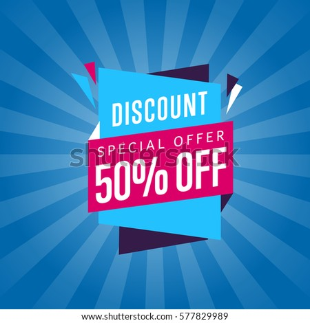 Exclusive Offer 50 Percents Buy, Isolated Banner Stock photo © robuart