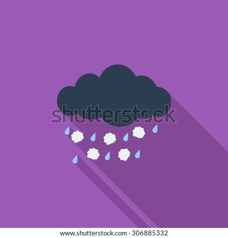 Hagel flat icon Stock photo © smoki