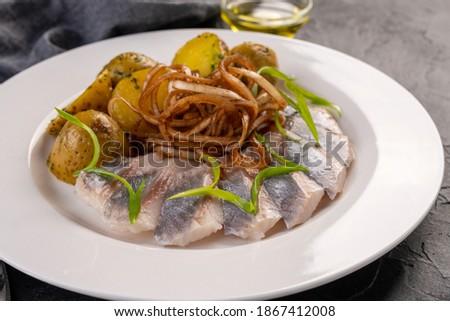 Hagyma hal olaj vacsora reggeli friss Stock fotó © tycoon