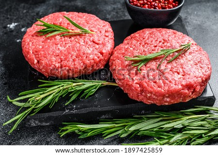 Friss nyers bárány marhahús vágódeszka klasszikus Stock fotó © DenisMArt