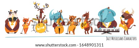 Ingesteld muzikant karakter illustratie man ontwerp Stockfoto © colematt