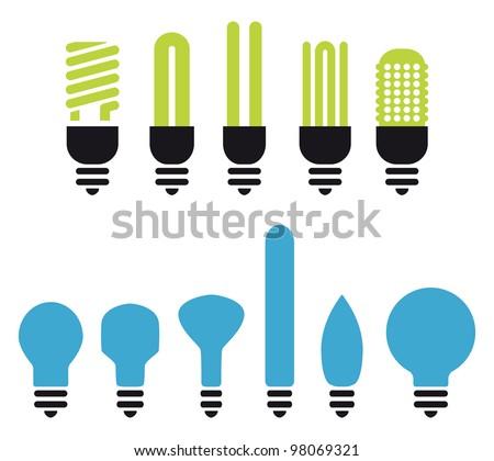 Single Light Bulb Illuminated In Collection Stock photo © albund