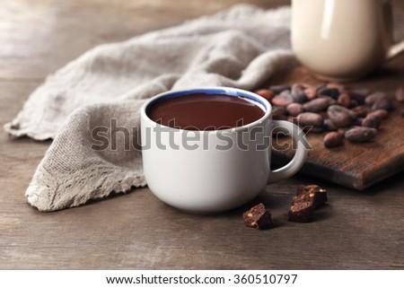 Beker cacao drinken chocolade gezellig viering Stockfoto © neirfy