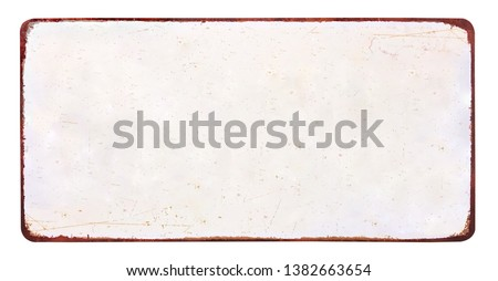 Empty vintage tin sign on a white background Stock photo © Zerbor