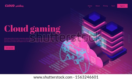 Cloud Gaming Service Concept Illustration Stock photo © make