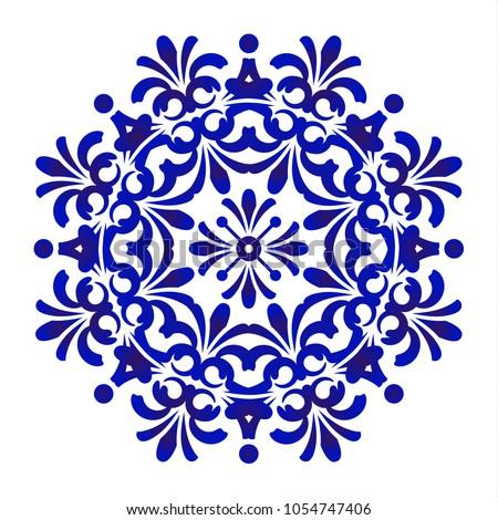Mandala patterns on blue background Stock photo © bluering