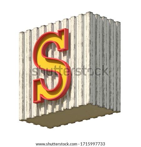 ヴィンテージ 具体的な 赤 黄色 フォント 手紙 ストックフォト © djmilic
