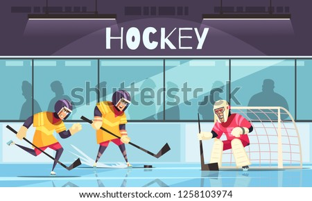 Hockey Ice Rink Extremal Sport Flyer Poster Vector Stock photo © pikepicture