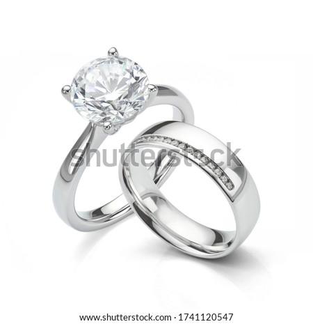 Biały projektu diament glamour krystalicznie symbol Zdjęcia stock © njaj