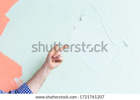 Decorator pointing at copyspace Stock photo © photography33
