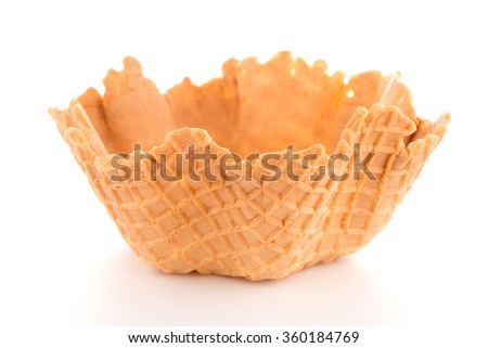 Empty Wafer Cup For Icecream Foto stock © homydesign