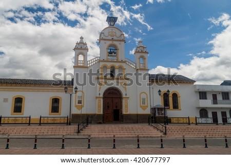 Quiroga Church in Town Square Stock photo © rhamm