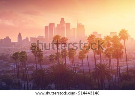 sunset in Los Angeles  Stock photo © meinzahn