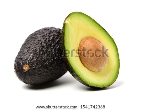 Isolated avocado on a white background stock photo © njnightsky