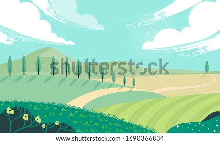 Mountains in sunny day Stock photo © BSANI