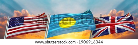 United Kingdom and Palau Flags Stock photo © Istanbul2009