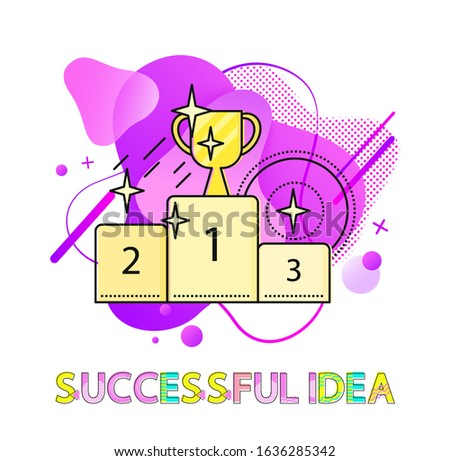 Successful Idea Pedestal with Prize Cup Abstract Stock photo © robuart