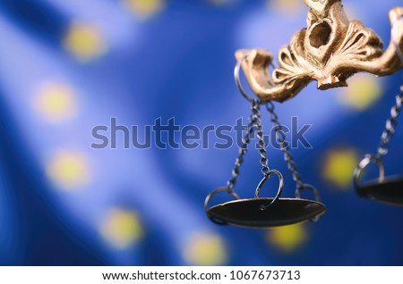 A law book with a gavel  - European Union Law Stock photo © Zerbor