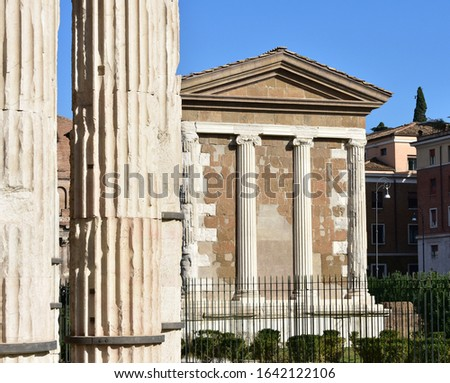 temple of portunus rome stock photo © borisb17