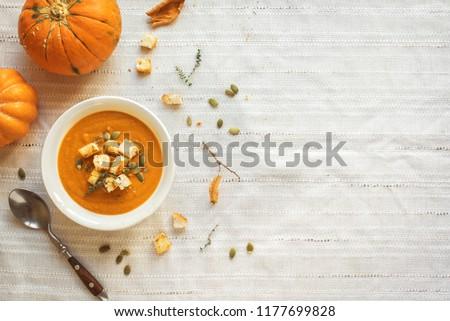 abóbora · sopa · abóboras · sopa · de · legumes · pedra - foto stock © karandaev