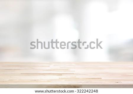 Cinza mesa de madeira exibir montagem produtos branco Foto stock © artjazz