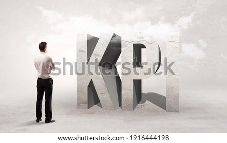 Achteraanzicht zakenman permanente afkorting www Stockfoto © ra2studio