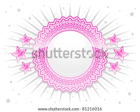 розовый кружево гребень звезды дизайна Сток-фото © adrian_n