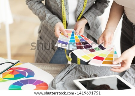 Woman looking at a swatches Stock photo © photography33