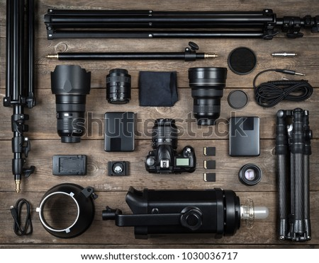 Photography equipment and accessories Stock photo © theevilhammie
