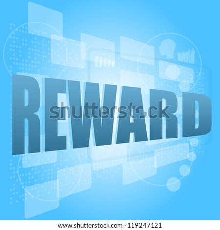 Words Reward On Digital Screen Life Style Concept Stock fotó © fotoscool