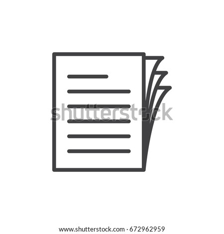 Vector icon paper Stock photo © zzve