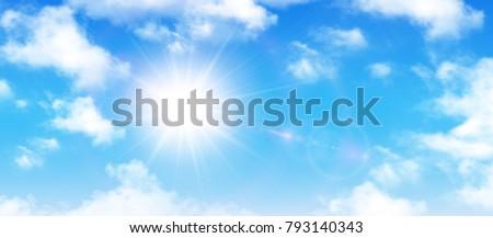 blau · Tageslicht · Sommer · Himmel · weiß · Wolken - stock foto © alinamd