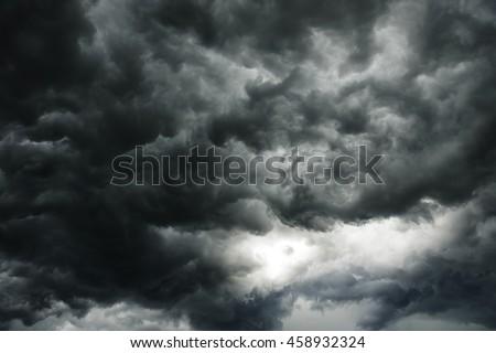 темно облака небе воды фон красоту Сток-фото © meinzahn
