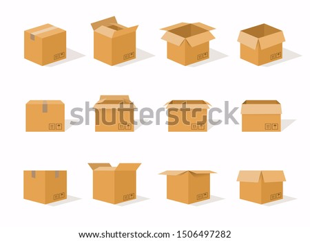opening cardboard delivery packaging box Stock photo © LoopAll
