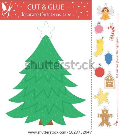 Funny ángel árbol de navidad árbol estrellas Foto stock © marimorena