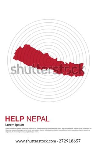 Nepal earthquake 2015 help Stock photo © vectomart