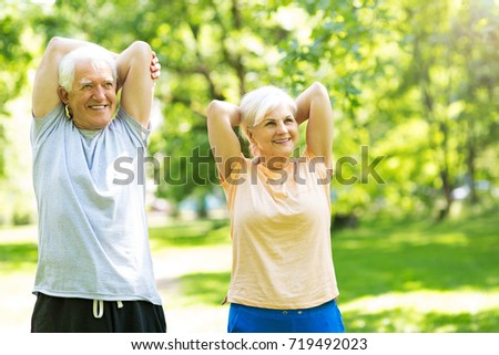 Woman in park stretching Stock photo © IS2
