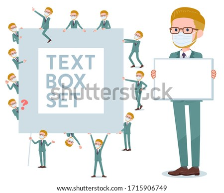 blond hair businessman_text box Stock photo © toyotoyo