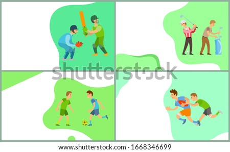People Playing Different Kinds of Sport Website Stock photo © robuart