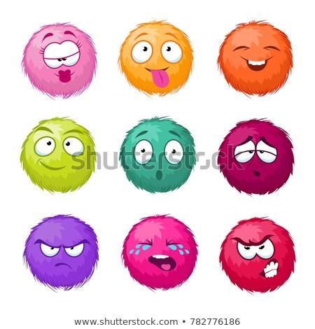 Cute monstruo emoción colores ilustración círculo Foto stock © lenm