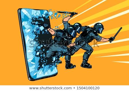 Internet letartóztatás hacker cenzúra tilalom szabadság Stock fotó © studiostoks