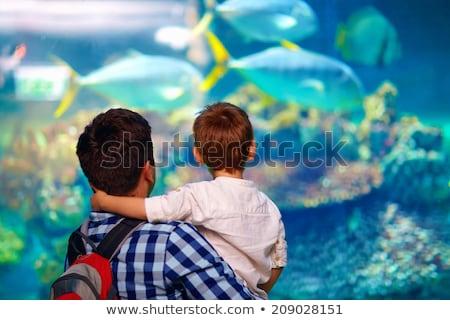 ストックフォト: Dad With Son In Oceanarium