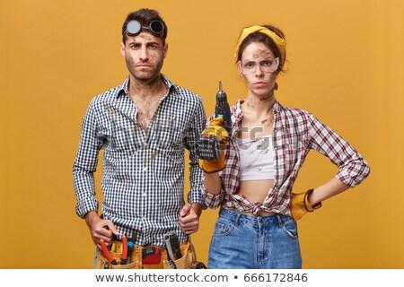 Ernstig jonge technicus werkkleding reparatie werk Stockfoto © pressmaster