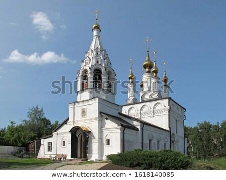Kerk Rusland hemel geschiedenis toren godsdienst Stockfoto © borisb17