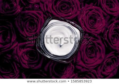 Arckrém bőr hidratáló sötét lila virágok Stock fotó © Anneleven
