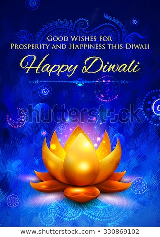 creative decorative diwali diya golden lamp design Stock photo © SArts