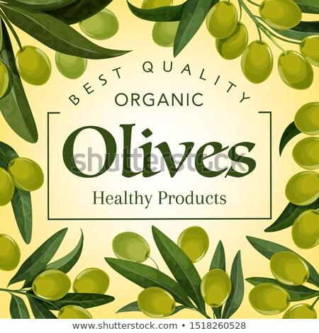 оливкового дополнительно девственница органический продукт плакат Сток-фото © pikepicture