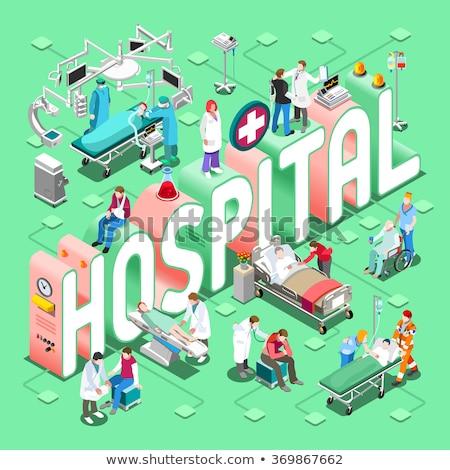 Clinical laboratory analysis icons cartoon set vector concept metaphors. Stock photo © RAStudio